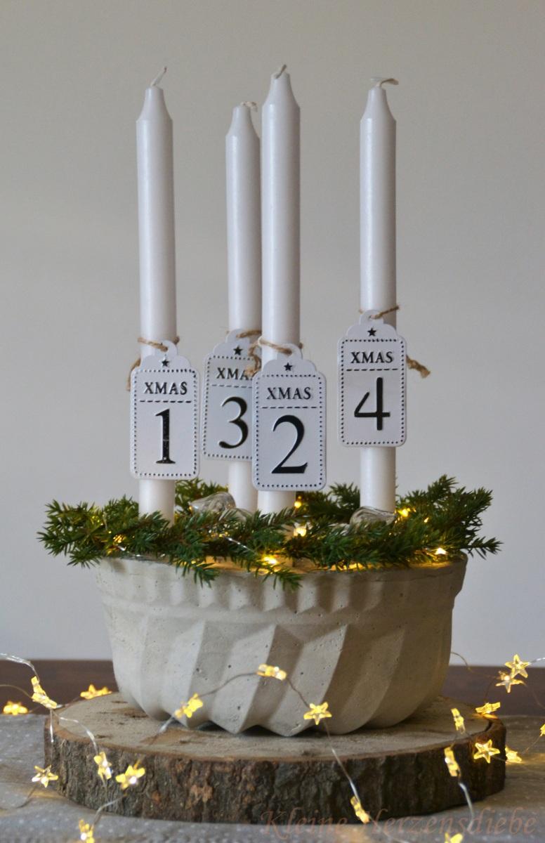 A heavy merry Christmas - Mein Adventskranz aus Beton (+ Geschenktipp)