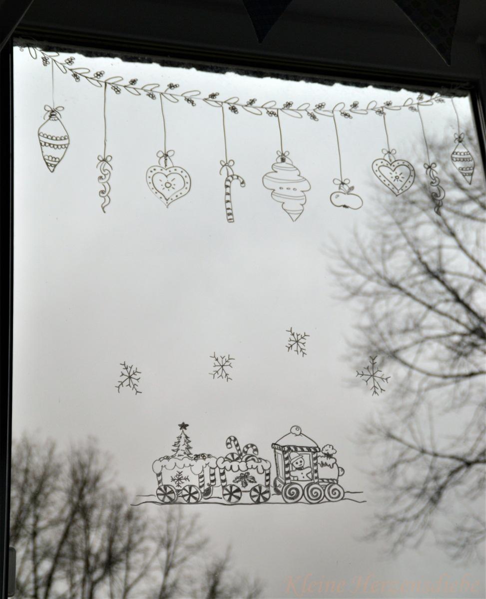Fenstermalerei (mit Vorlagen zum Ausdrucken)